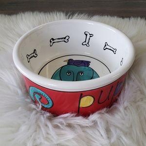 B2G1 Colorful Jester by Ursula Dodge Dog Bowl